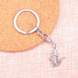 $enCountryForm.capitalKeyWord Australia - New Fashion crocodile alligator KeyChain Handmade Metal Keychain Party Gift Jewellery 26*20mm