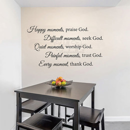 $enCountryForm.capitalKeyWord Australia - Happy Moments Praise God Quotes Wall Sticker Faith Quote Lettering Wall Decals Removable Faith God Bible Quotes Wall Decor Q324