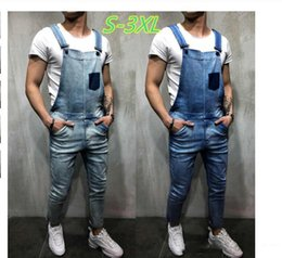 denim jumpsuits sale NZ - Hot Sales Men's Vintage Jeans Jumpsuits Fashion Distressed Denim Bib Overalls Male Suspender Pants New Men Casual Jeans Rompers