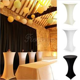 $enCountryForm.capitalKeyWord NZ - White black ivory Stretch Cocktail Lycra Dry Bar Spandex Table Cover Tablecloth Wedding Event Party Decor 60cm 80cm T8190620