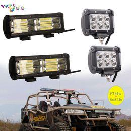 $enCountryForm.capitalKeyWord Australia - wzjoo 4 inch 9inch 18W 144W LED Light Bar Spot Beam For Offroad 4X4 Trucks Driving Work Fog Pick Up Lamp 12V 24V