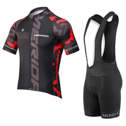 Discount 3d shirt man black - 2019 New Team MERIDA Cycling clothing MTB bike Shirt bib  shorts with 3D GEL PAD Suit summer breathable men cycling jers
