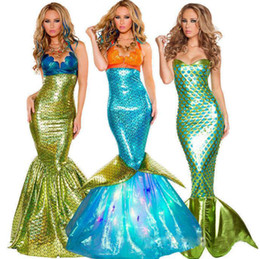 Wholesale sexy women cosplay costumes for sale - Group buy Mermaid Cosplay Dress Performing Photography Halloween Costume Mermaid Dress Adult Sexy Skirt Role Playing Cosplay Clothing Dress Styles
