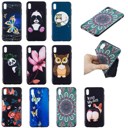 Iphone Case Butterfly Pu NZ - Soft TPU Back Phone Case For iPhone x xs xr 5 6 7 8 Slim Fit Flower butterfly owl panda Case for iPhone xs max Cover