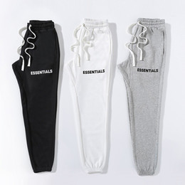 Wholesale black white patterned pants resale online - Fear Of God Mens Pants Essentials Mens Designer Trousers FOG Designer Hip Hop Motion Pants Mens Casual pants