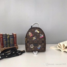 Genuine Leather Rucksack Australia - 2019 new style Top quality PALM SPRINGS Mini lovers backpack Monogrram Reverse rucksack haversack Genuine leather Sports Backpack M44367