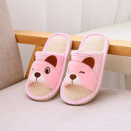 kids indoor slipper shoes NZ - kids Slippers Children Funny Soft Home House Shoes Kid's Solid Fluffy Slip-On Indoor Outdoor Children Shoes Warm Slippers#G30