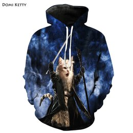 Cool boys sweatshirts online shopping - Domi ketty boys girls hoodies D print cat hero cool outerwear cute kids baby sport sweatshirt clothes children long sleeve tops