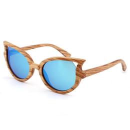 13a28557e wholesale New 100% Real Zebra Wood Sunglasses Polarized Handmade Wooden  Women Sunglass Sun glasses Women Gafas Oculos De Sol