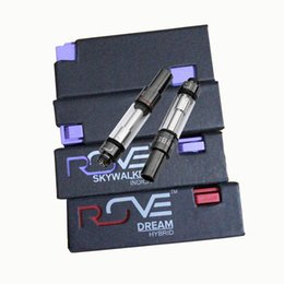 Cigarette paCkage box online shopping - Rove Electronic Cigarettes Oil Vape Cartridges Carts Vapor Glass Tank ml Ceramic No Leaking Empty Atomizer with Box Packaging Flavors