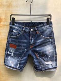 $enCountryForm.capitalKeyWord Australia - Wholesale-Summer Men's denim shorts type Skinny Button Fly Mens Shorts Jeans Micro-stretch Slim Fit Make Shabby holes top Men Plus Size 8 S