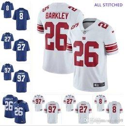 Großhandel Mens Draft # 8 Daniel Jones Trikot # 97 Dexter Lawrence # 27 Deandre Baker Vapor Unberührbar Alle genähten American-Football-Trikots im Großhandel