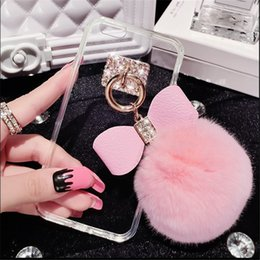 iphone tassels Australia - For iPhone 7 Plus Mirror Case Soft TPU Case Furry Ball Tassel Fur Ball Case For iPhone 7 iPhone 6S Plus