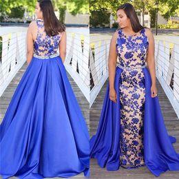 Maternity Mermaid Wedding Dress Styles Australia - 2019 Eyesight Mermaid Evening Dress Full Appliques With Jewel Oveskirts Arabic Style Prom Dresses Hot Sales