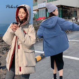 Cotton padded korean Coat online shopping - Winter jacket parkas Autumn women Korean warm Down cotton padded jacket female bread coats clothes hooded coats