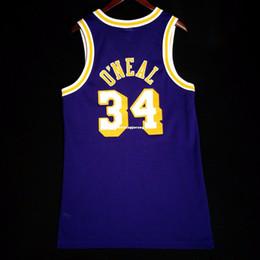 Vente en gros 100% Cousu Shaquille O'Neal en gros maillot - kobe Shaq Oneal Hommes Taille De Gilet XS-6XL Maillots De Basketball Cousu