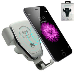 Discount cell phone holder charger stand - QI Wireless Charger Fast Wireless Cell Phone Chargers Gravity Compatible Charging Car Mount Phone Stands Car Phone Holde