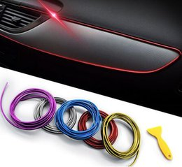 $enCountryForm.capitalKeyWord Australia - 5M Car Seal Accessories Styling Interior Exterior Decoration Door Strip Moulding Trim Dashboard Edge Universal Auto Chrome