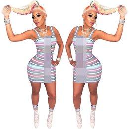 Vintage sports prints online shopping - 2019 Designer Woman Summer Dresses Contrast Color Stripe One Piece Bodycon Dress Women Luxury Short Skirts Party Dress Clothing C61907