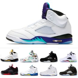 prince black Australia - 2020 Fresh Prince Wings Laney 5 V 5s Basketball Shoes Black White grape Fire red OG black Metallic silver men Sport Sneaker 41-47