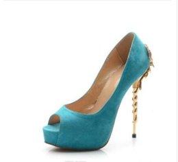 Discount stylish lady shoes heel - 2019 sexy peep-toe heels stylish women high heels ladies metal embellished high heels party shoes wedding shoes