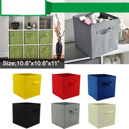 $enCountryForm.capitalKeyWord Australia - Storage Bins Cubes Baskets Containers foldable drawers organizers with Dual Non Woven Handles for Home Closet Bedroom Drawers Organizers