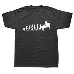 Music Man T Shirt UK - Evolution Pianist Piano T Shirt Men Male Summer Short Sleeve Thanksgiving Day Custom Big Size Team Music