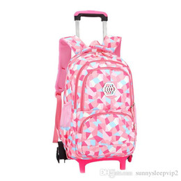AdorAble bAgs online shopping - Vbiger Little Girl Wheeled Backpack Adorable Daypack Large capacity Trolley School Bag Rolling Bags for Primary School Students