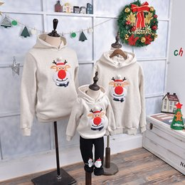 matching mommy girl clothes NZ - 15colors Family Matching Clothes Cartoon Christmas Tree Socks Deer Party Costume Korean Style Kids Hoodies Mommy And Me Sweaters J190517