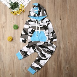 Wholesale kid hoodie for sale - Group buy 2020 Summer Autumn Toddler Kid Baby Boys Outfit Clothes Hoodie Long Sleeve with Cap Top Pants Boys Suit Set