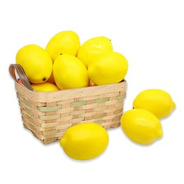 Discount new kitchen floor - Hot New 12Pcs Artificial Lemons Fake Fruit for Home Kitchen Wedding Party Festival Autumn Thanksgiving Decoration Yellow