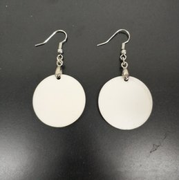 New sublimation earring DIY earring round dangler manual blank eardrop best handwork for gift by yourself on Sale