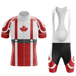 reflective cycling jersey sets NZ - 2020 Canada New Team Cycling Jersey Customized Road Mountain Race Top max storm Cycling Clothing cycling sets