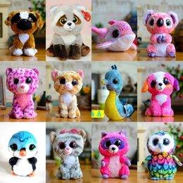 0468e129449 Ty Beanie Boos Plush Stuffed Toys Big Eyes Animals Soft Dolls Kids Birthday Xmas  Gifts 15cm