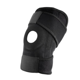 elastic knee sleeve support Australia - Adjustable Strap Elastic PatellaTraining Sports Support Brace Wrap knee protector Pad Sleeve Cap Safety Knee Black Neoprene