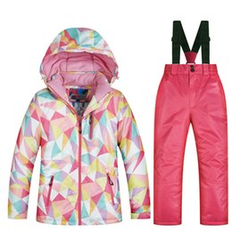 pink snow suit NZ - High Quality Kids Ski Suit Children Windproof Waterproof Colorful Girls for Boy Snowboard Snow Jacket and Pants Winter Dress T190920