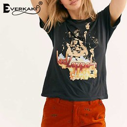 $enCountryForm.capitalKeyWord Australia - Everkaki Cotton Vintage T shirt Women Retro Pattern Casual T Shirt Tees&Tops Punk Rock Boho Tee Shirt Women Summer 2019 T5190603