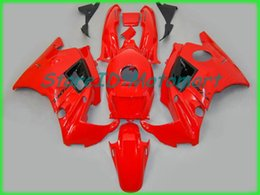 motorcycle fairings cbr f2 Australia - Motorcycle Fairing kit for HONDA CBR600F2 91 92 93 94 CBR 600 F2 1991 1994 ABS Red flames black Fairings set+gifts HF28