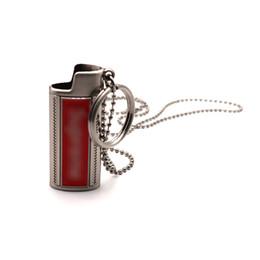 Lighter casing online shopping - Necklace Pendant Holster Lighter Shell Sleeve Key Ring Protective Case Skin Portable Innovative Design For Cigarette Herb Bong Smoking Pipe