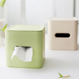 $enCountryForm.capitalKeyWord Australia - Home Kitchen Bamboo Fiber Plastic Tissue Box Napkin Holder Case Simple Stylish Roll Paper Napkins Tissue Box
