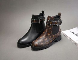 Long boot Laces online shopping - Ting2594 Autumn And Winter Classic Old Flower Print Boots Riding Rain Boot Boots Booties Sneakers Dress Shoes