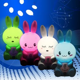 $enCountryForm.capitalKeyWord Australia - Cartoon Rabbit Light Control LED Light Intelligent Energy 1 (W) Bedroom, Desk, etc. Saving Night Lamp 1