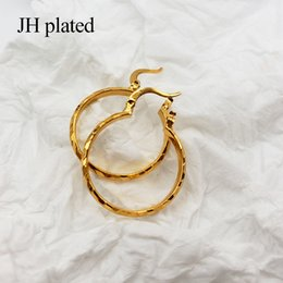 $enCountryForm.capitalKeyWord Australia - JHplated Arab Fashion 24K Hoop Earrings for Women's Girls Gold Color Jewelry Middle East Africa Ethiopian best Gifts Party