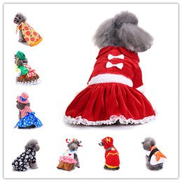 Wholesale santa costume female online – ideas Dog Christmas clothes Halloween fun party holiday decorations pet hoodie clothes pet supplies Santa Claus costume