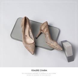 $enCountryForm.capitalKeyWord Australia - Attractive2019 Beautiful Generation Woman Women's Lace High-heeled Bridesmaid Fine Shoes With Sharp Single Shoe Sexy 17760