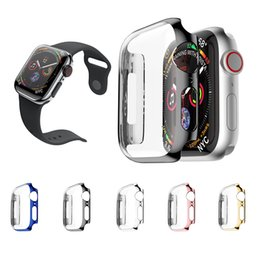 Coque de protection pour Apple Watch série 4 ultra fine, revêtement de protection en PC pour coque de protection pour Apple Watch série 4, 40 mm / 44 mm en Solde