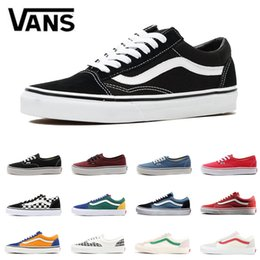 60a22639150d31 Original Vans Old Skool canvas sneakers fear of god classic black white red  YACHT CLUB blue for men women Skateboard shoes