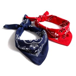 Wholesale Jinjin QC Hip Hop Scarf Headband Cashew Printed Square Wrist Band Women Scarves and Wraps Multi use HeadBand Drop Shipping