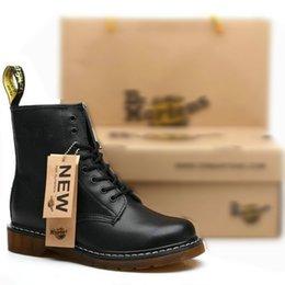 Hot Sale outono inverno sapatos de couro Dr Ankle boots mulheres dos homens inverno neve botas Doc Martens Sapatos dms Tornozelo Botas venda por atacado