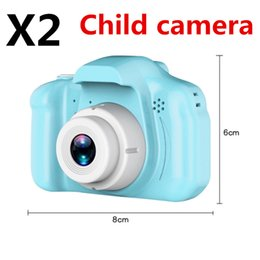 "$enCountryForm.capitalKeyWord Australia - X2 Children's camera Mini Digital Camera 1080P DH 2"" Cartoon Cute Camera Toy the best Gift For Children Toddler DHL free shipping fashion"